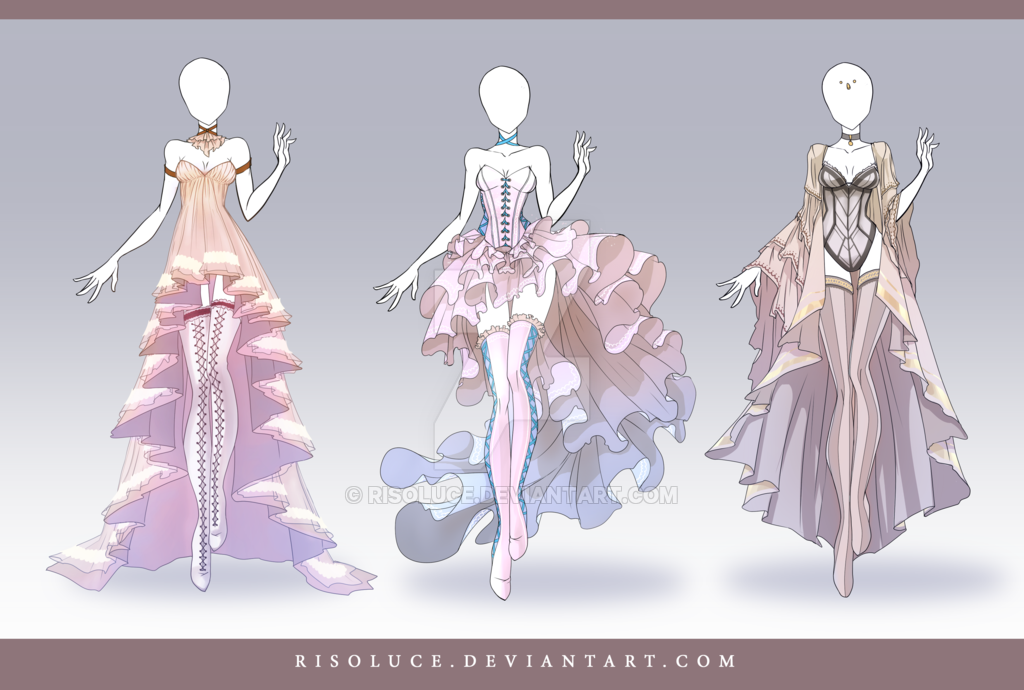 (OPEN) Adoptable Outfit Auction 110 -112 by Risoluce on DeviantArt