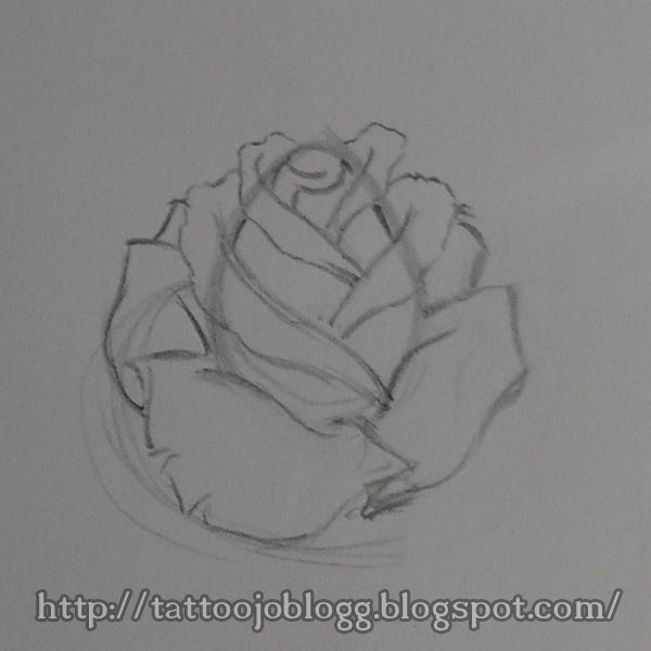 19a50dcd3 how to draw a simple rose, tattoo style step by step tutorial | How ...