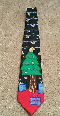Men's silk tie The Save the Children collection The power star tree Christmas