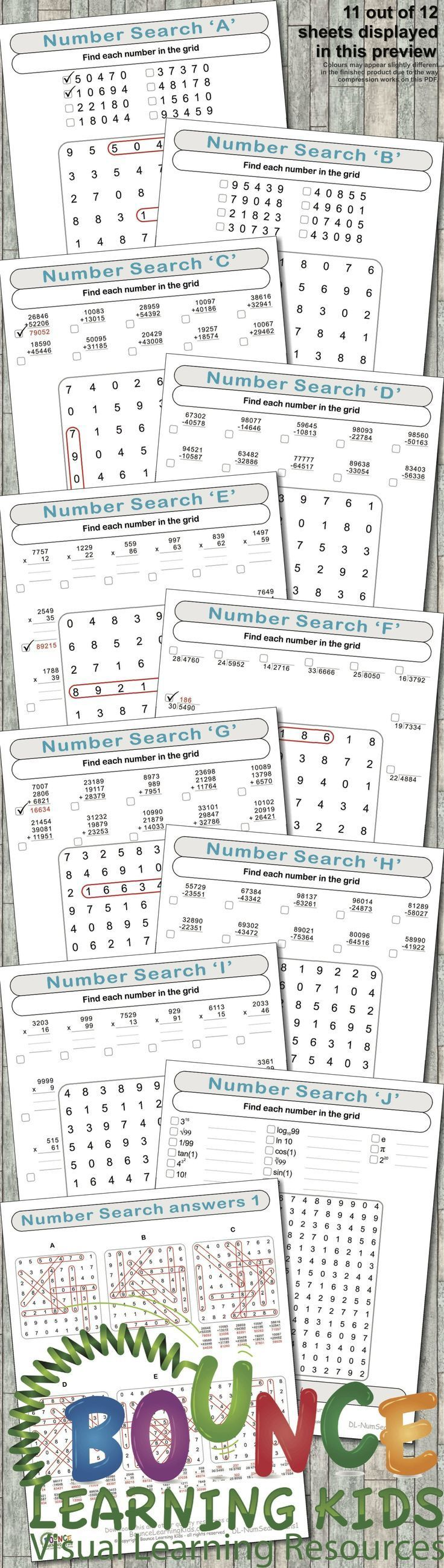Numbers search is a fantastic way to make mental maths fun
