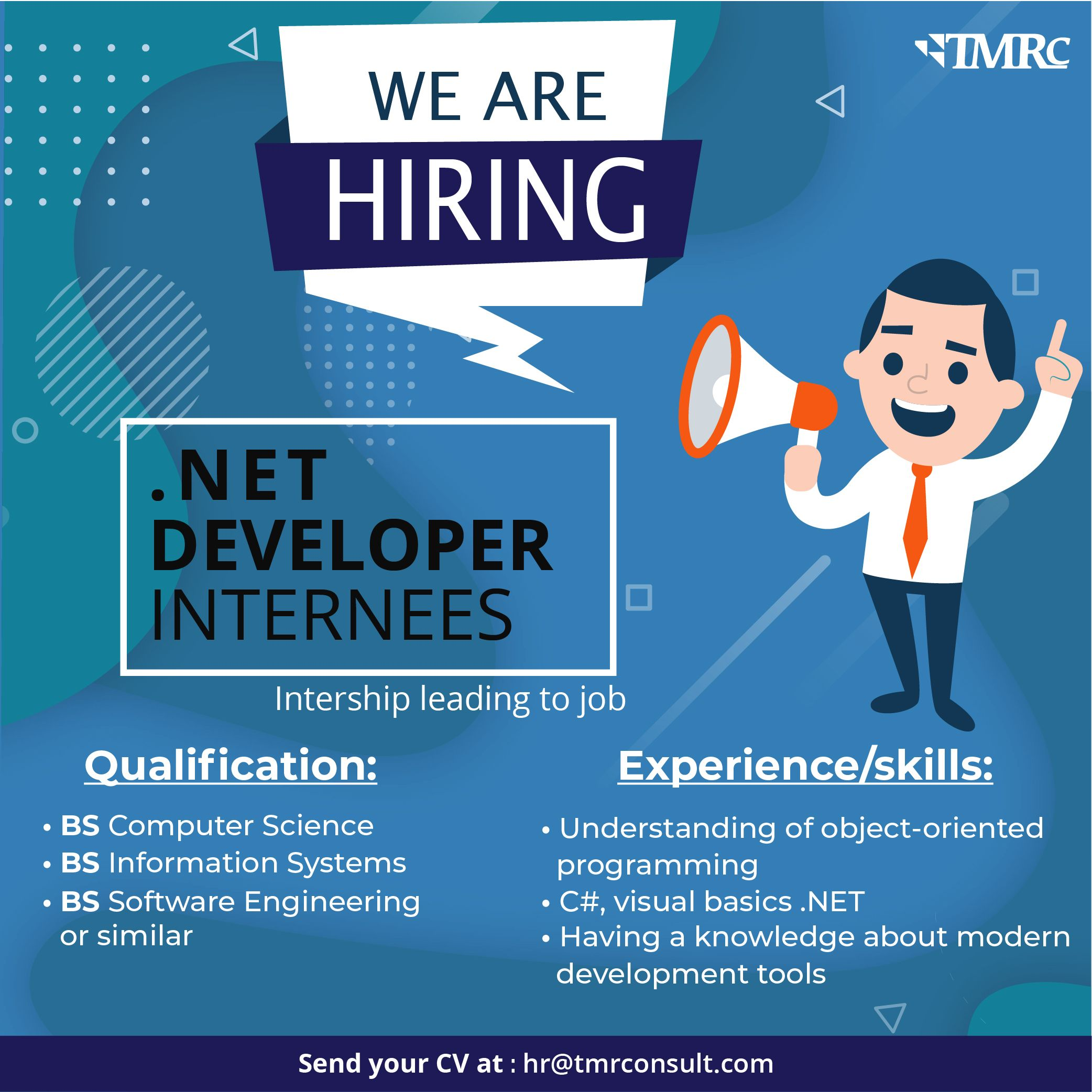 Internship announcement tmrc is looking for highly