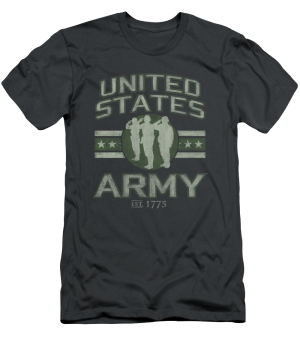 Project Shirt - US Army T-Shirt with Saluting Soldiers Logo, $28.00 (http://www.projectshirt.com/us-army-t-shirt-with-saluting-soldiers-logo/)
