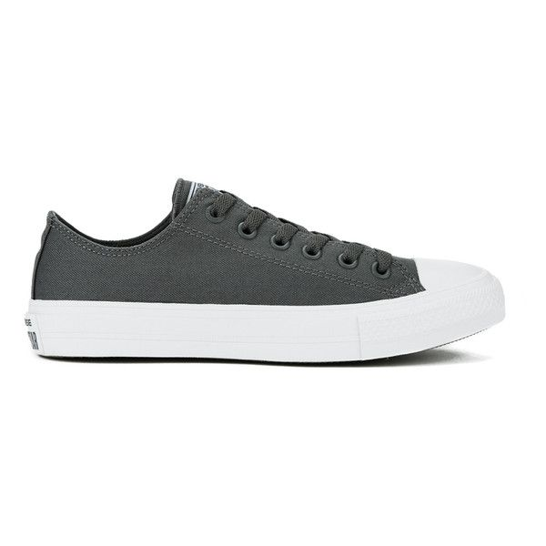 1e742afadc020f Converse Chuck Taylor All Star II Ox Trainers - Thunder White Navy ( 75) ❤  liked on Polyvore featuring shoes