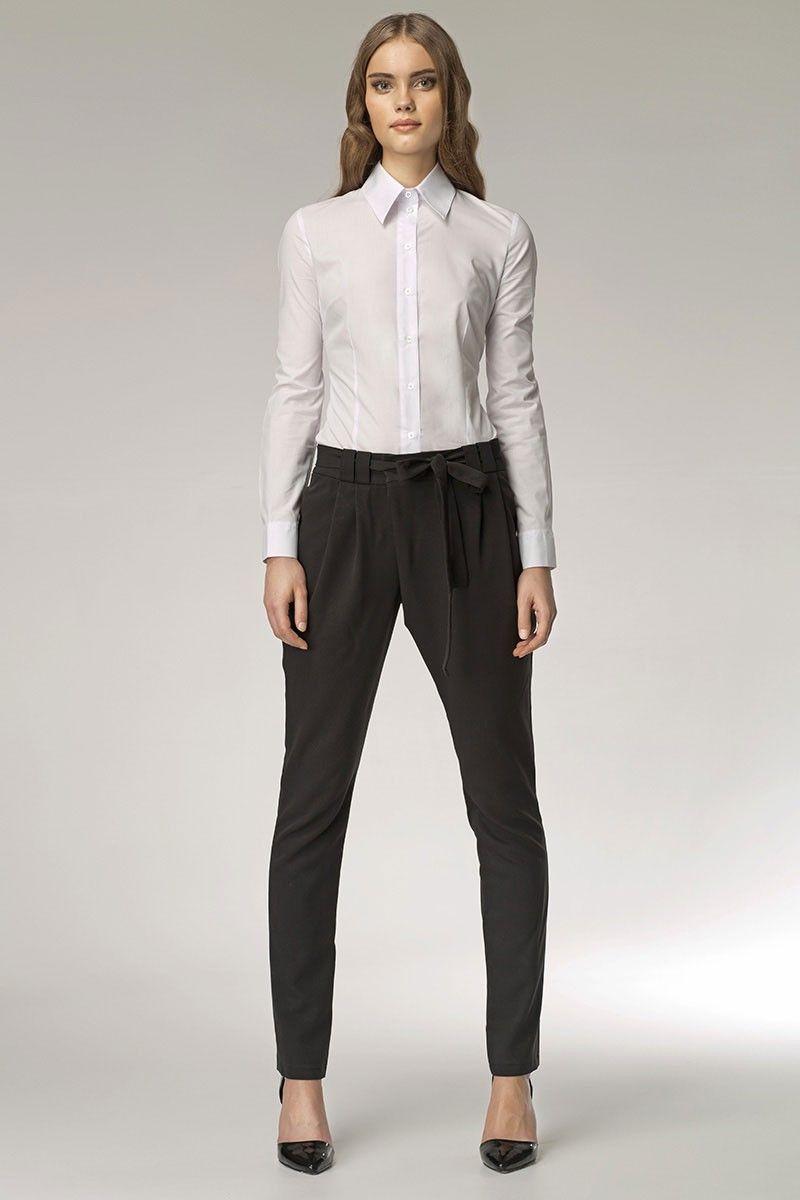 fcfa8d546179 Pantalon asymétrique, coupe carotte, coloris noir.   Les nouveautés ...