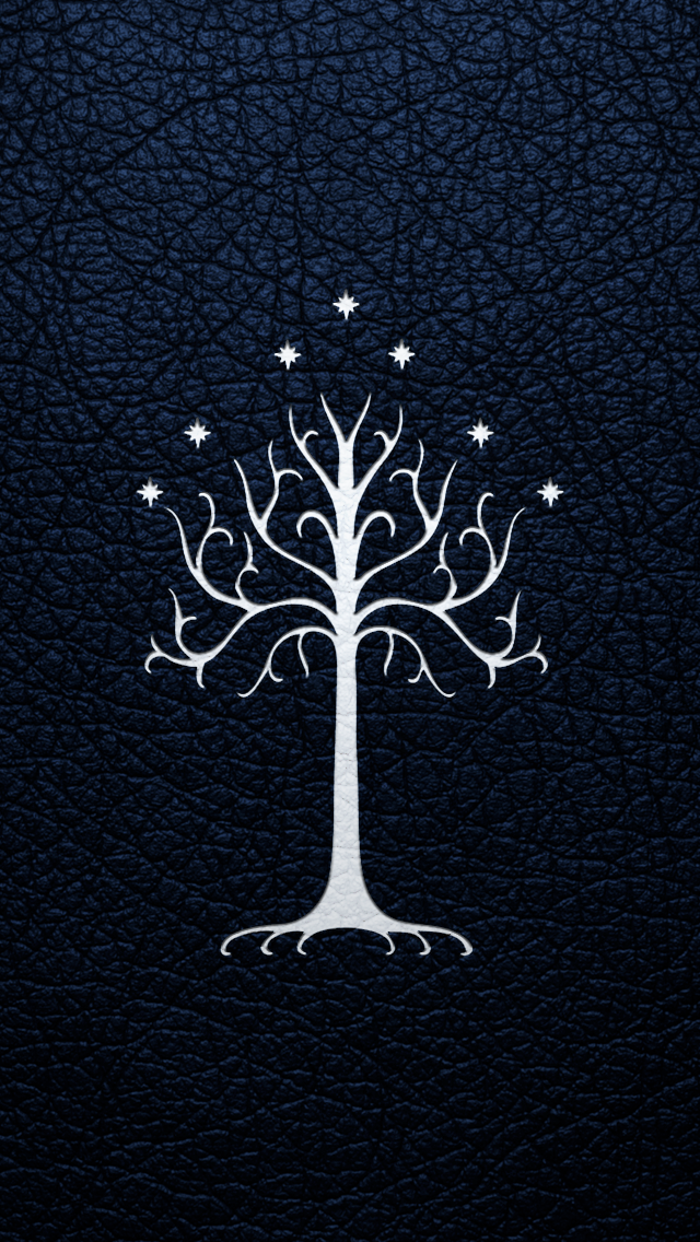 the white tree of gondor iphone 5 wallpaper by