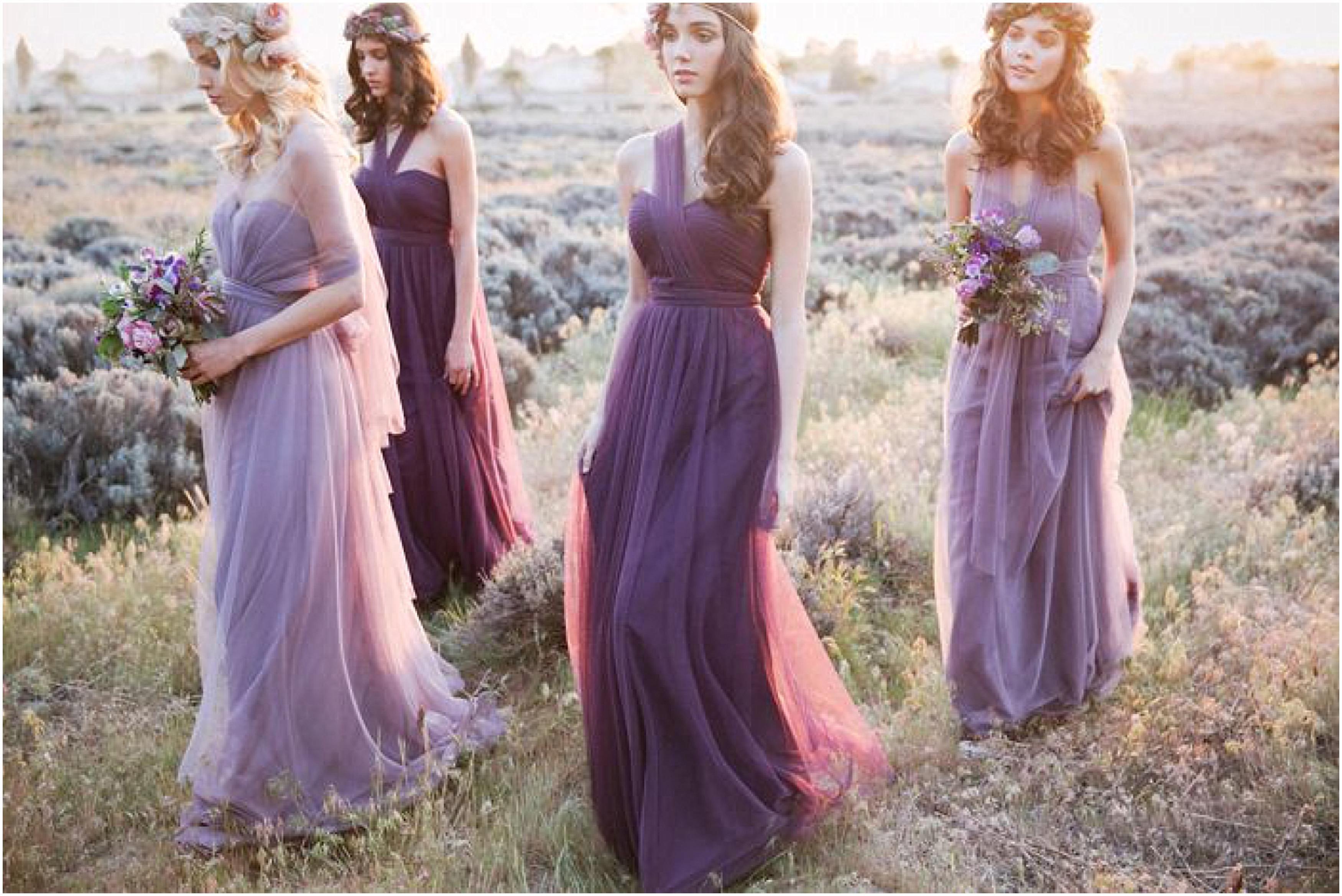 Mismatched Convertible Bridesmaid Dresses | Bridesmaid inspiration ...