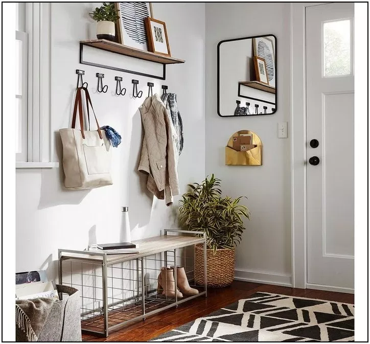 158+ rustic diy home decor ideas you can build yourself 62   Home Inc is part of Mudroom entryway -