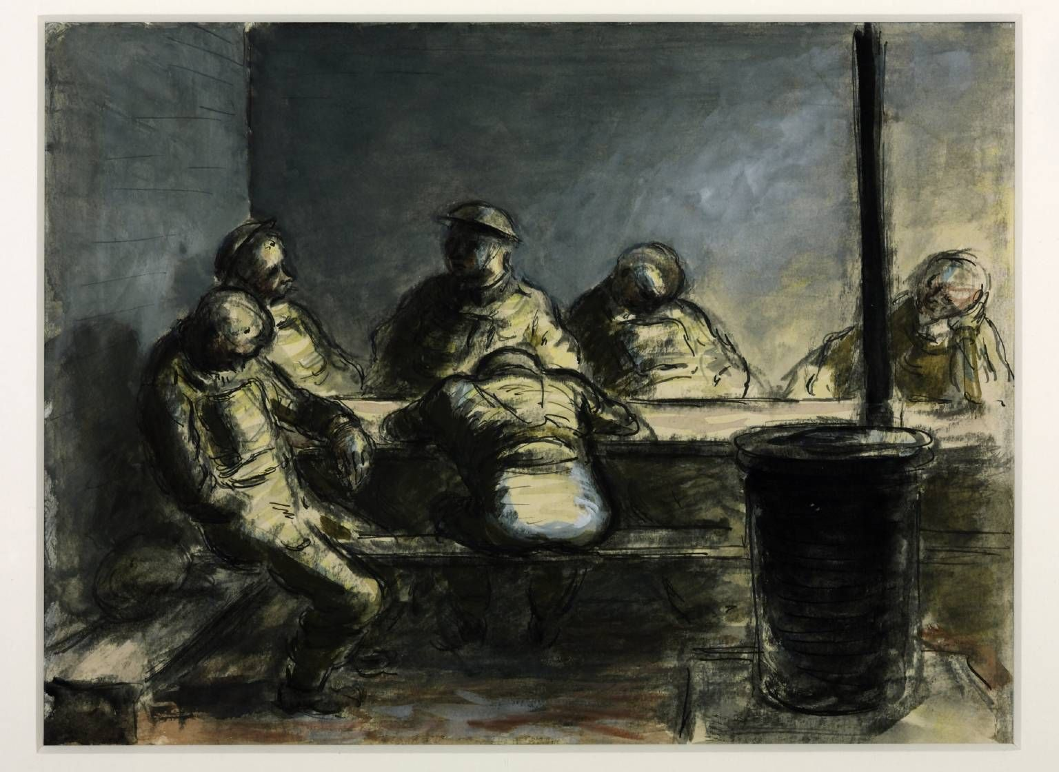 Edward Ardizzone 'On a Fortified Island, the Night Watch', 1941