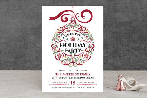 Holiday Party Ornament Holiday Party Invitations by Paper Sun Studio - holiday party invitation