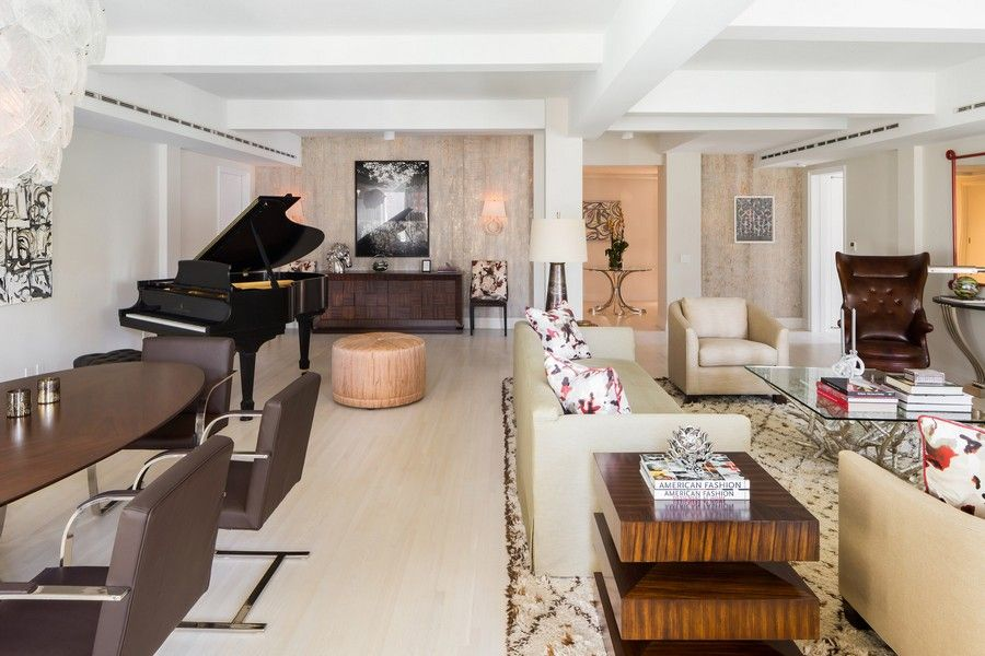 737 Park Avenue Res E Living And Dining Room Glamorous Residence Design Within