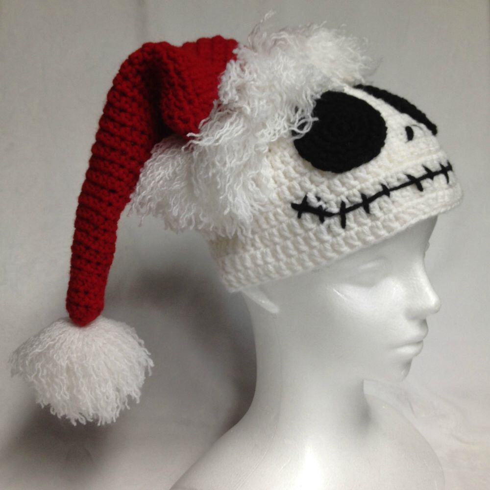 Nightmare Before Christmas Santa hat by CraftyOatmeal on Etsy https ...