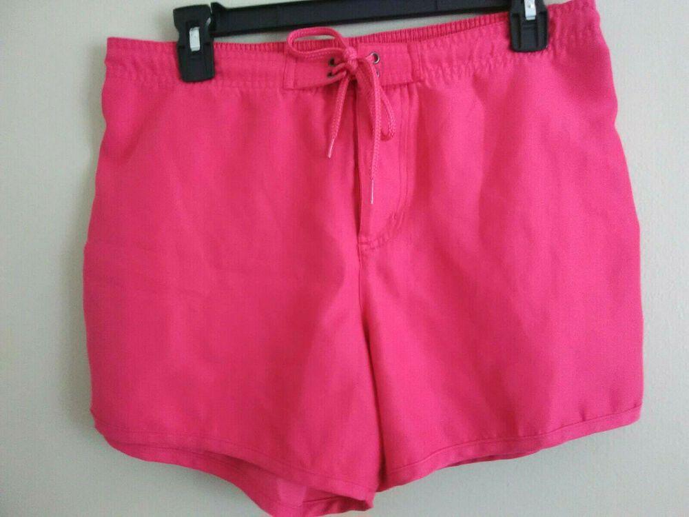52f612194a Catalina Women's Medium (8-10) Swim Trunks, Red Swimsuit Bottom ...