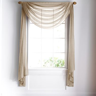 Royal velvet chantal sheer scarf valance jcpenney a - Jcpenney bathroom window curtains ...