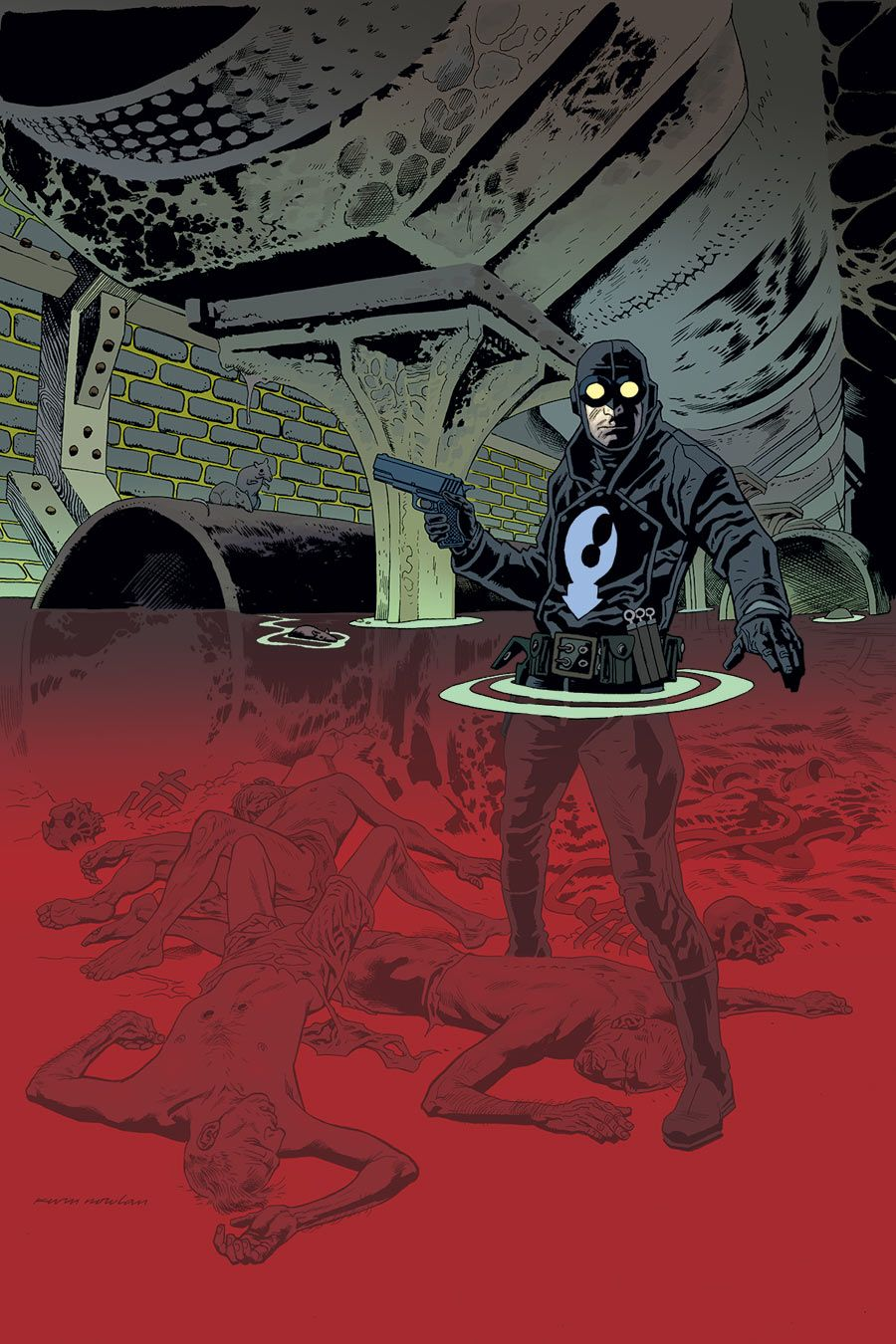 lobster johnson satan smells a rat cover by kevin nowlan