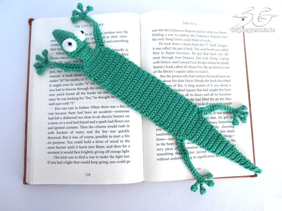Amigurumi Gecko Lesezeichen Häkelanleitung | Handarbeiten ...