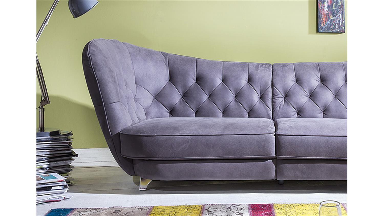 Ecksofa vintage look  Megasofa RETRO in Stone Vintage Look Sofa 3 Sitzer 256 cm ...