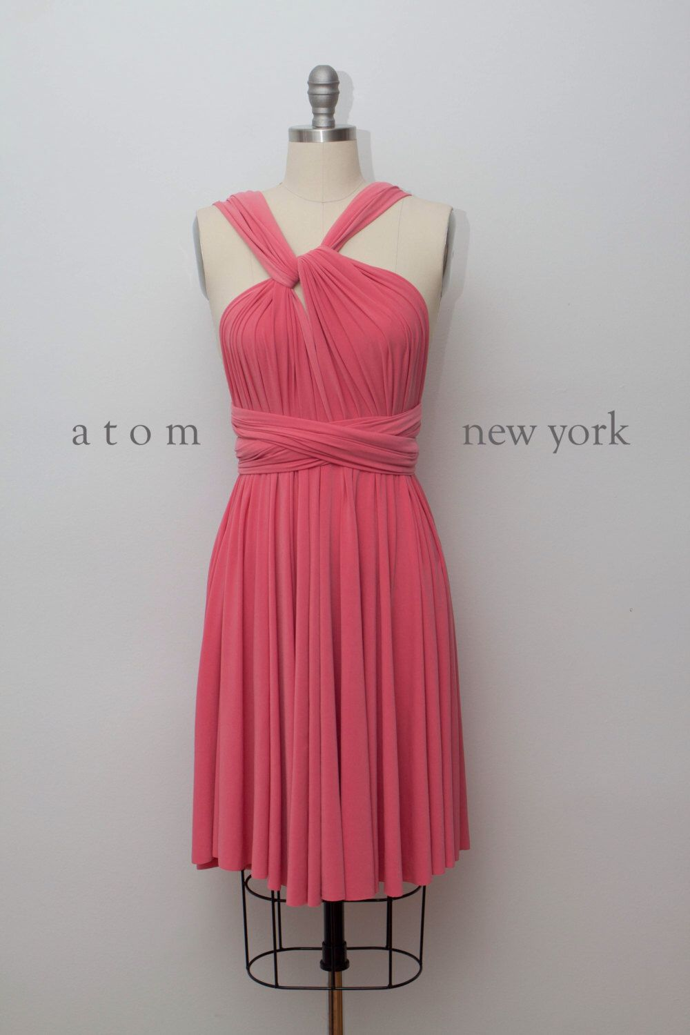 Coral SHORT Infinity Dress Convertible Formal Multiway Wrap Dress ...