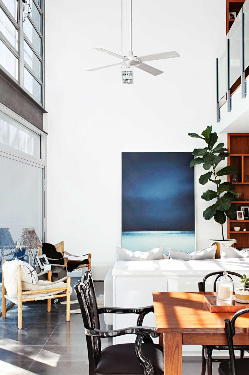 Double height ceiling high-ceiling-fan-modern-dining-room ...