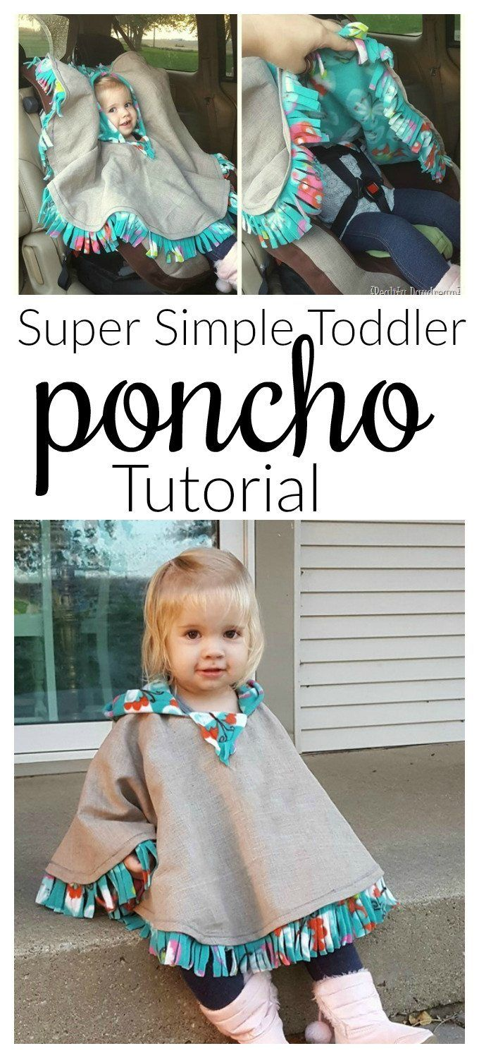 THE BEST Car Seat Poncho Tutorial - Fleece-lined! {Reality Daydream} #babyponcho