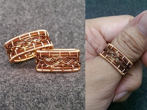 00e7693438fcbe How to make wire twisted round ring - handmade copper jewelry 132 - YouTube