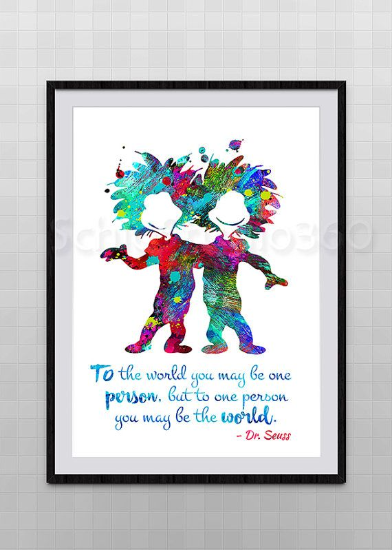 Dr Seuss Watercolor Art Print Dr Seuss Quote By