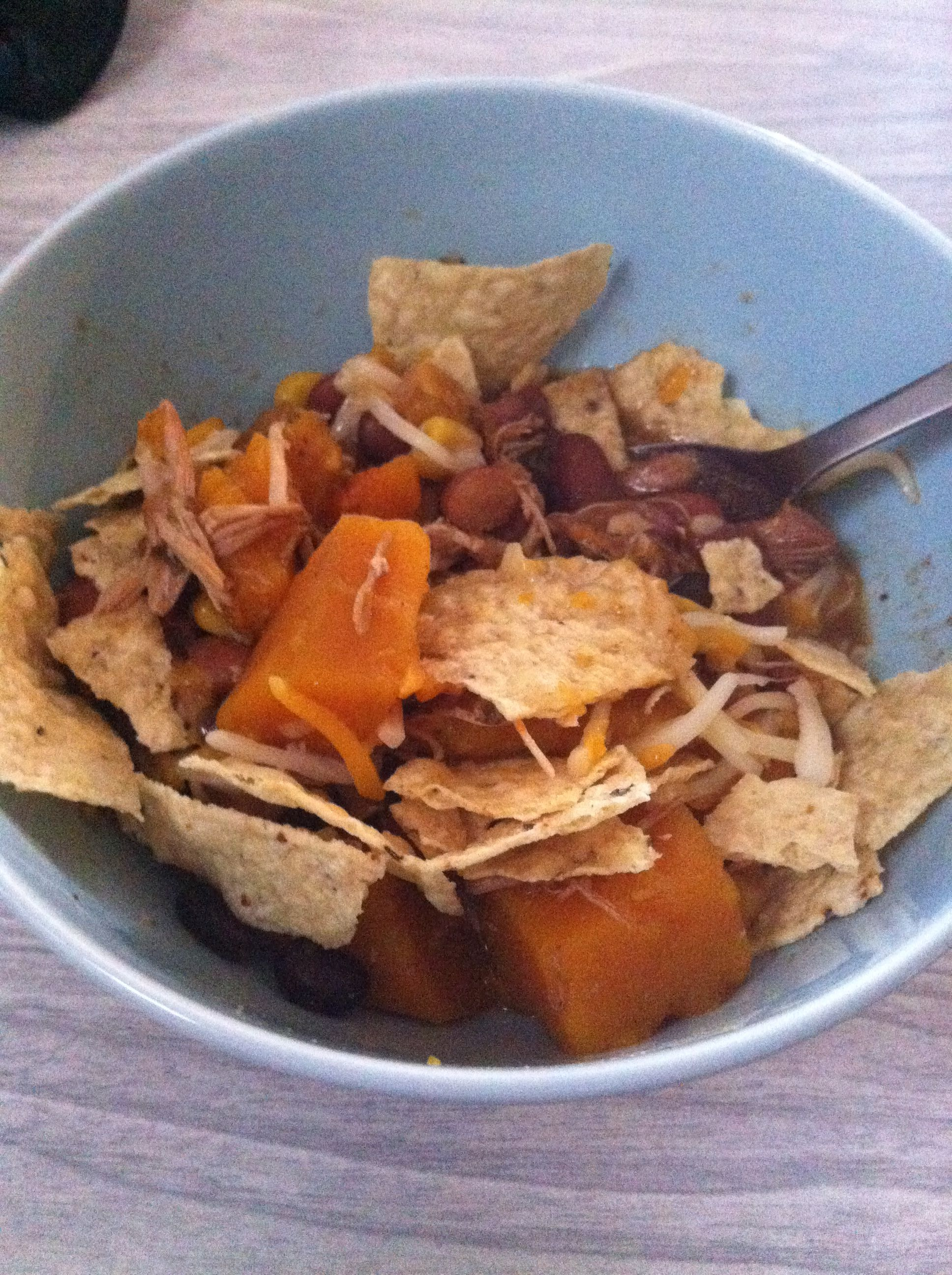 Crock pot white girl tortilla soup with butternut squash: Black and kidney beans Corn Chicken Butternut squash taco seasoning packet #tacoseasoningpacket Crock pot white girl tortilla soup with butternut squash: Black and kidney beans Corn Chicken Butternut squash taco seasoning packet #tacoseasoningpacket