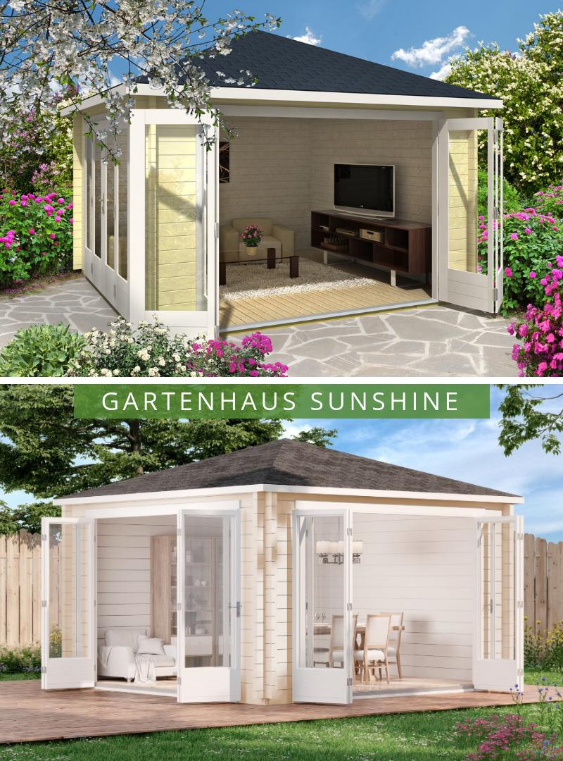 Gartenhaus mit großer Falltür Kann als Rückzugsort und