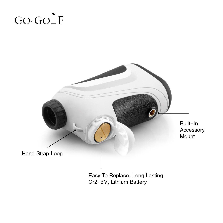 GoGolf Golf Rangefinder Laser Range Finder With Pin Sensor