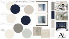 Custom Interior Paint Color Consultation Home Paint Palette Interior Designer Selected