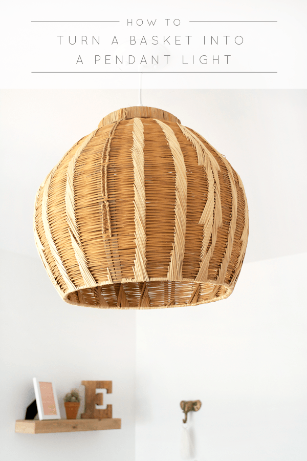 How To Turn A Basket Into A Pendant Light Brepurposed Diy Pendant Light Basket Lighting Pendant Light
