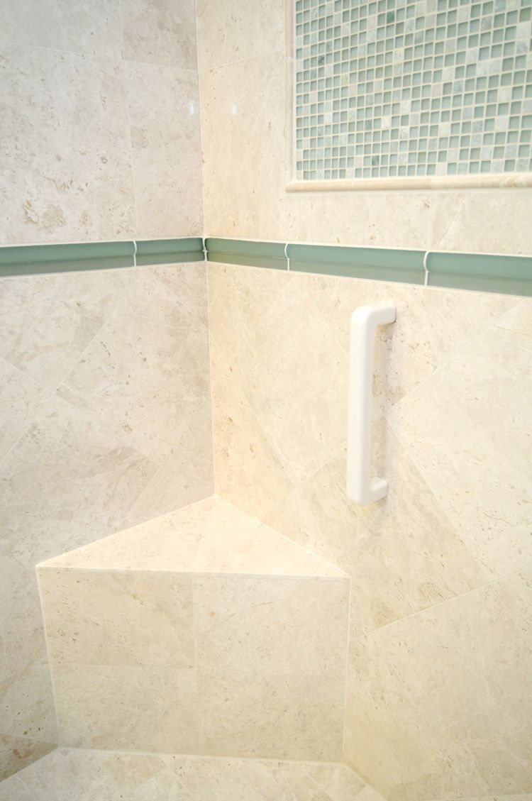 Infinity Grab Bar In White. With its unified acrylic bar and mount ...
