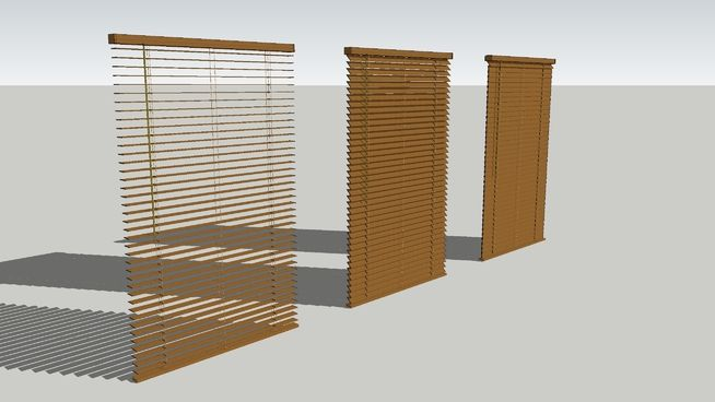 Lo Poly Wooden Blinds 3d Warehouse
