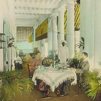 Porch Area Colonial Dining In British India 1895