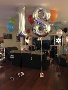 Überraschung für 18 Jahre alten Geburtstagskind !! Er liebte es ... 18 Luftballons, jeder befestigt ... - 2008 # Geschenk für Kinder -heya-