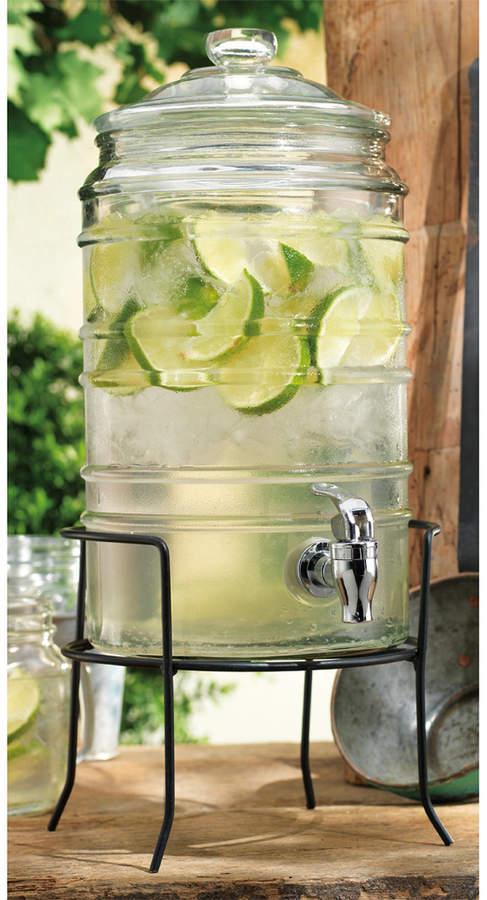Home Essentials Del Sol Beverage Dispenser With Stand Drink Dispenser Glass Beverage Dispenser Glass Water Dispenser Glass water dispenser with spigot