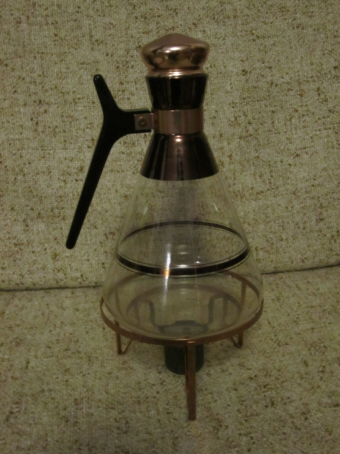 SALE // Vintage Glass Coffee Carafe with by