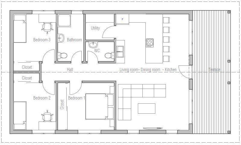 hermosos planos de planta abiertos Planos De Casas De 110 Metros Cuadrados En 2019 Planos De
