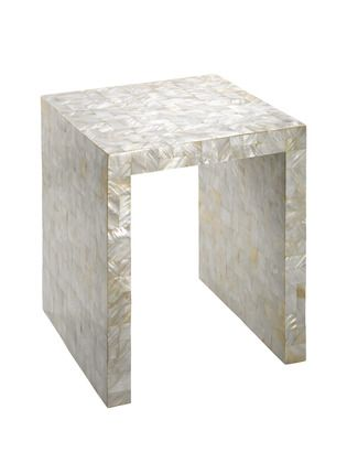 A Mother Of Pearl Side Table Habitat Pieces Accents
