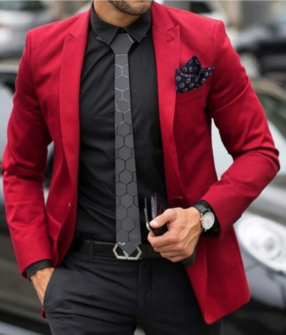 Pin By Marcos Leyton On Dress Code Mens Red Dress Shirt Blazer Outfits Men Fashion Suits For Men