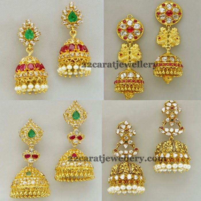 Traditional Look Polki jhumkas | Traditional, Indian jewelry and ...