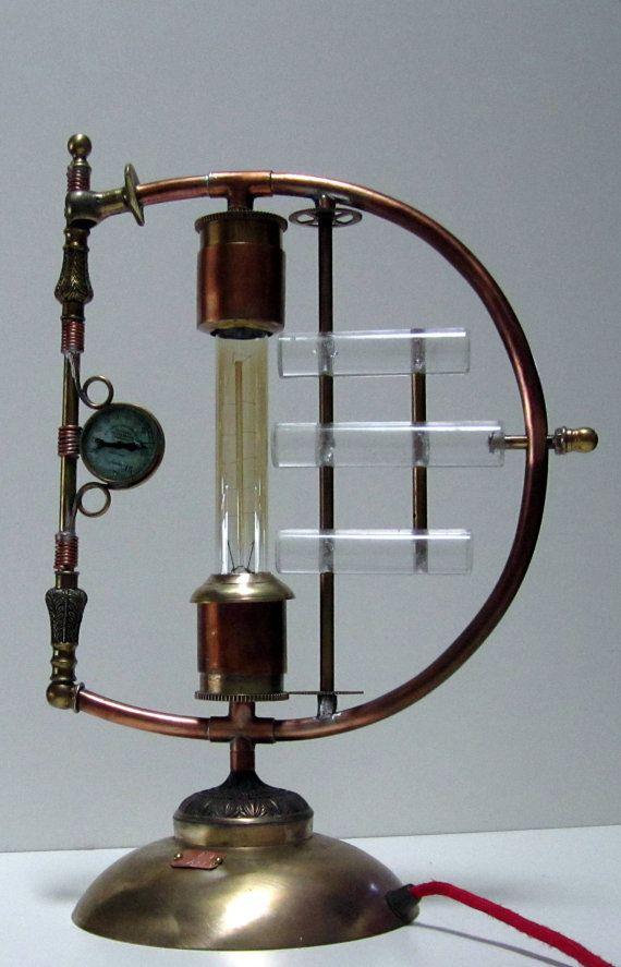 """Steampunk Lamp - """"Galvanic Impulse"""" A unique copper and ..."""
