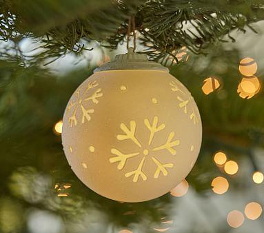 Light Up Snowflake Ball Ornament Kids Christmas Ornaments Christmas Decorations Ornaments Christmas Ornaments