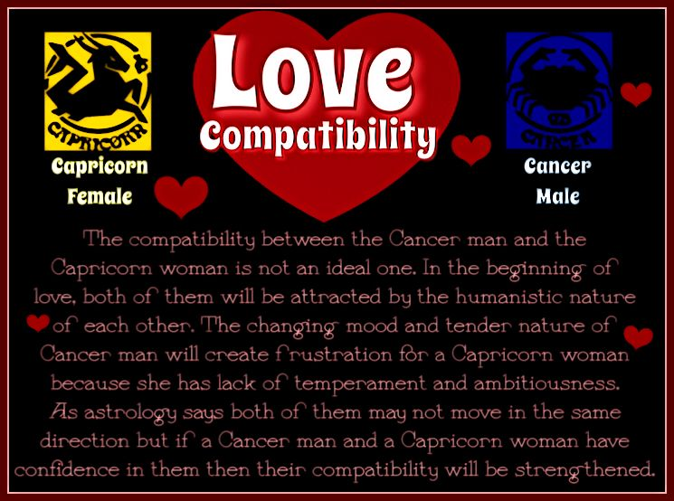 Cancer female capricorn male