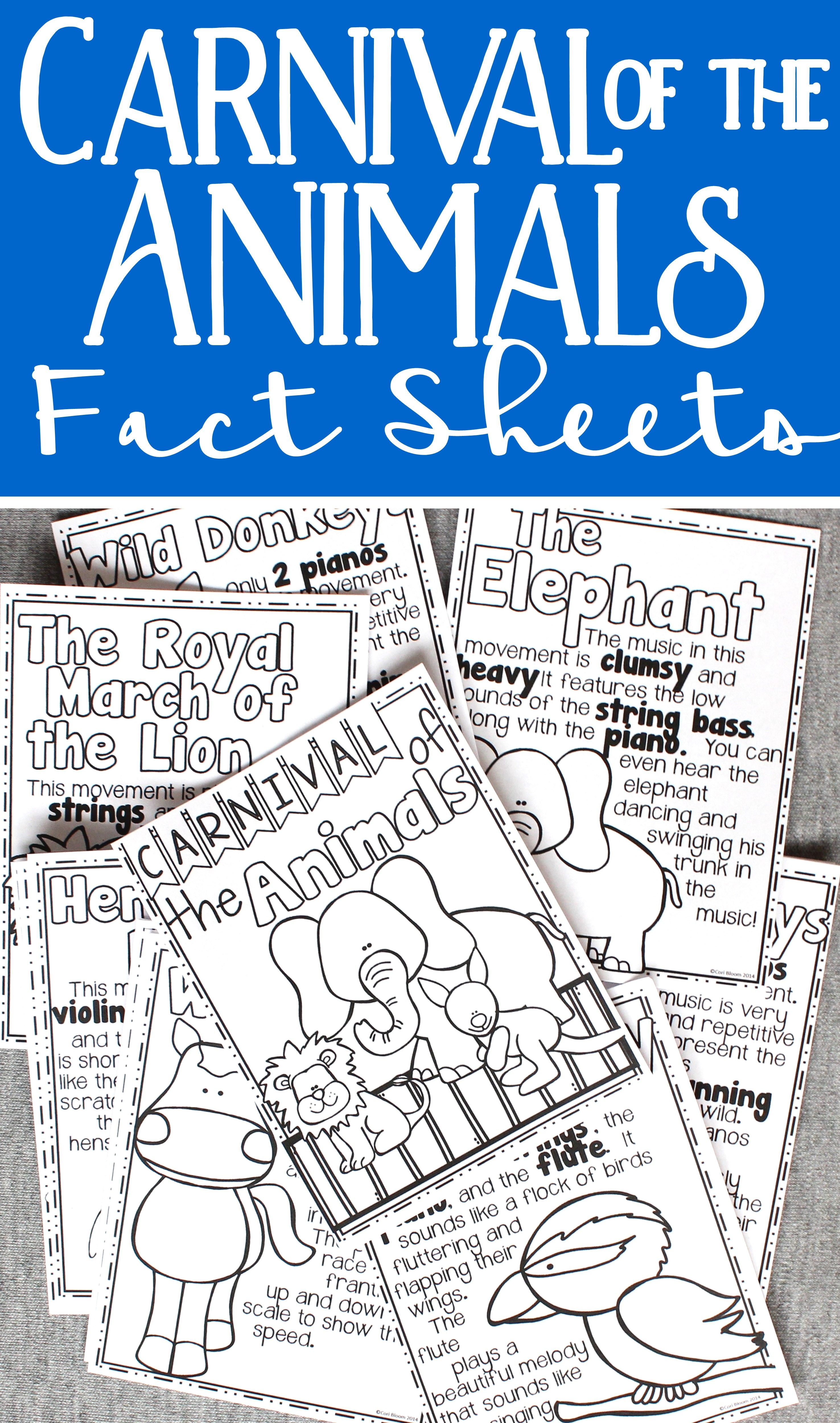Carnival Of The Animals Listening Journal Amp Fact Sheets