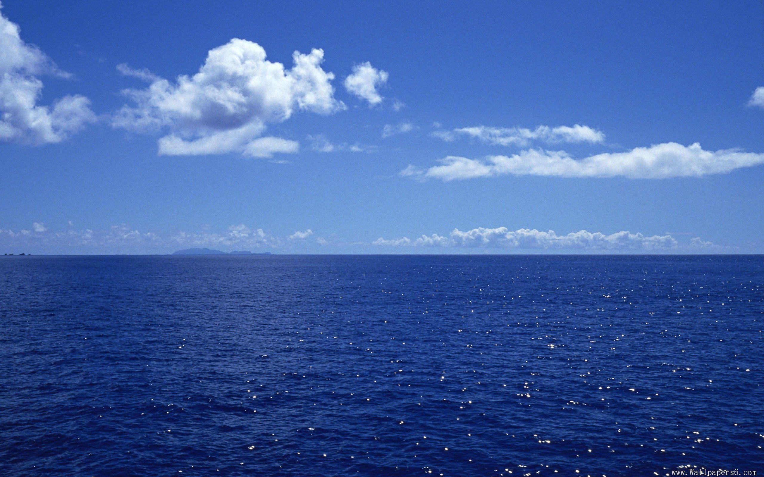 65 Blue Ocean Cloud Wallpapers Download At Wallpaperbro Beach Scenery Ocean Sky Blue Sky Wallpaper