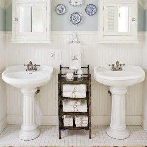 Pedestal Sinks Are The Backbone Of Country Style Bathrooms   Bonus Points  For Classical Column Style