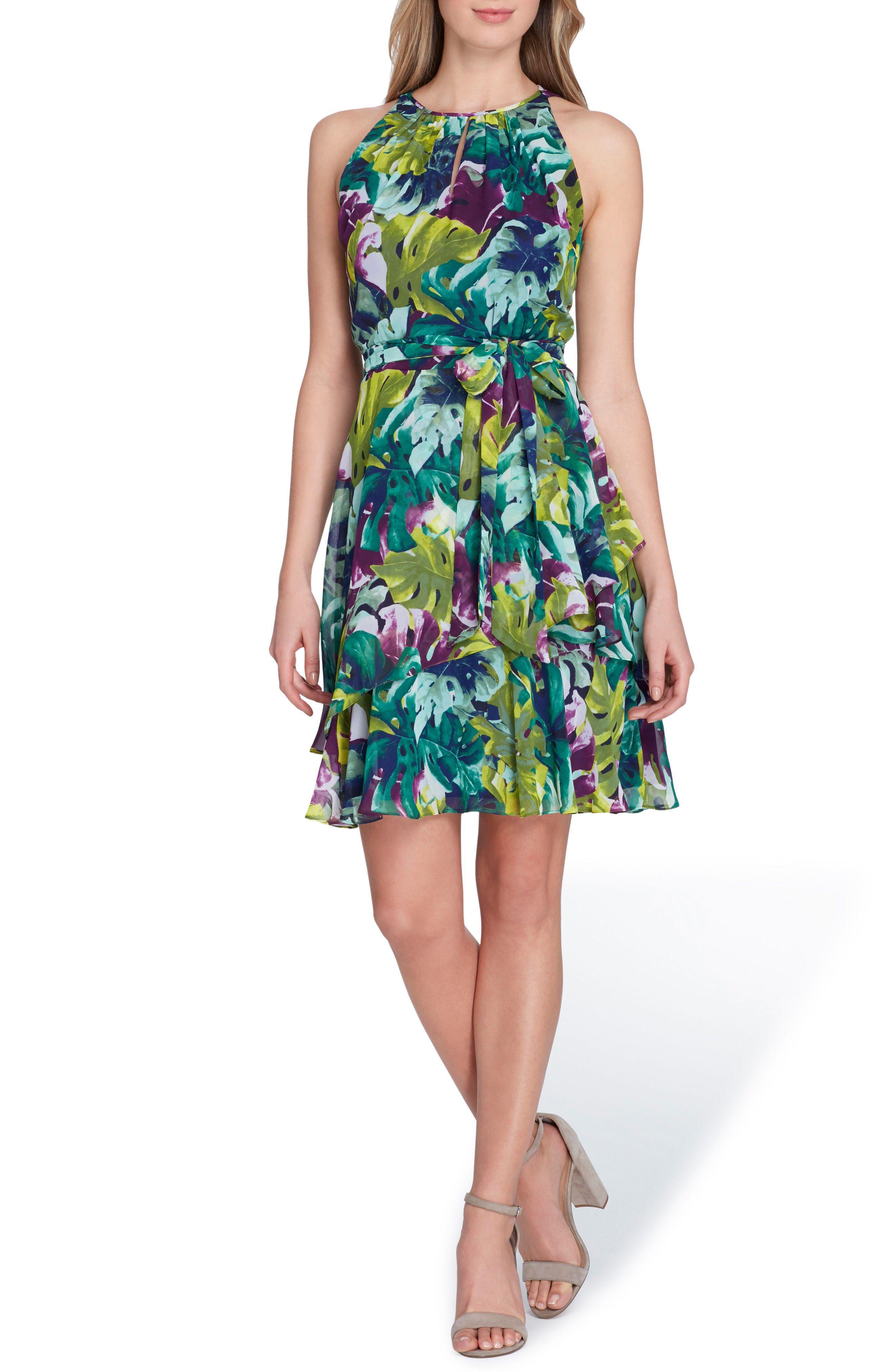 271599d0b00 Tahari Tropical Print Chiffon Dress available at  Nordstrom ...