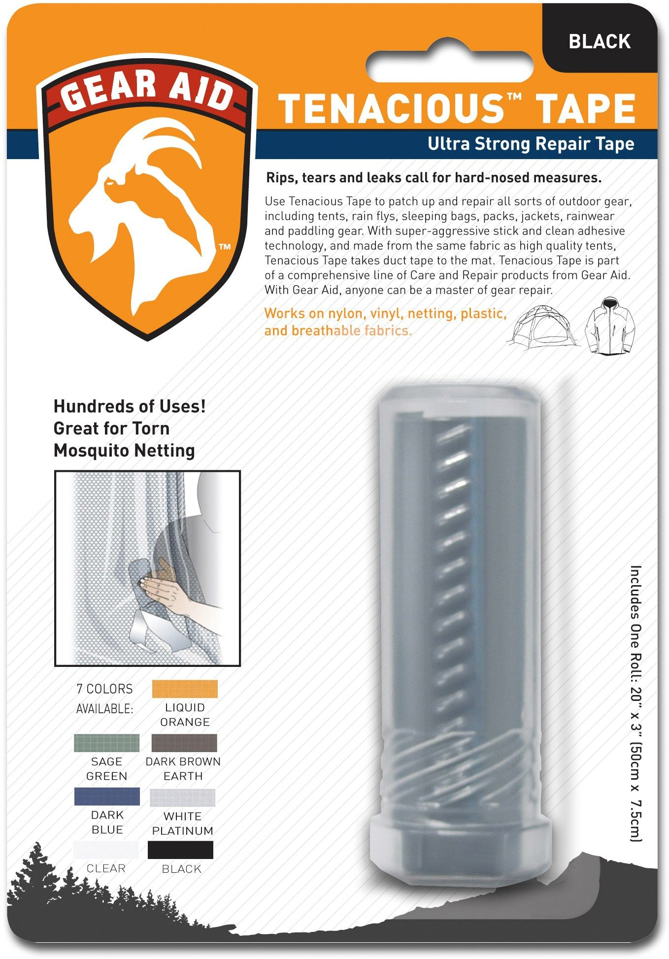 A gearheadu0027s go-to solution to repair tents tarps and rain gear in the  sc 1 st  Pinterest & Tenacious Tape Repair Tape | Tent tarp Rain gear and Tents