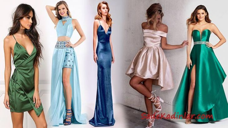Ozel Davetlere Ipeksi Bir Dokunus 2020 Saten Elbise Modelleri 2020 Elbise Modelleri Elbise Nedime Giysileri