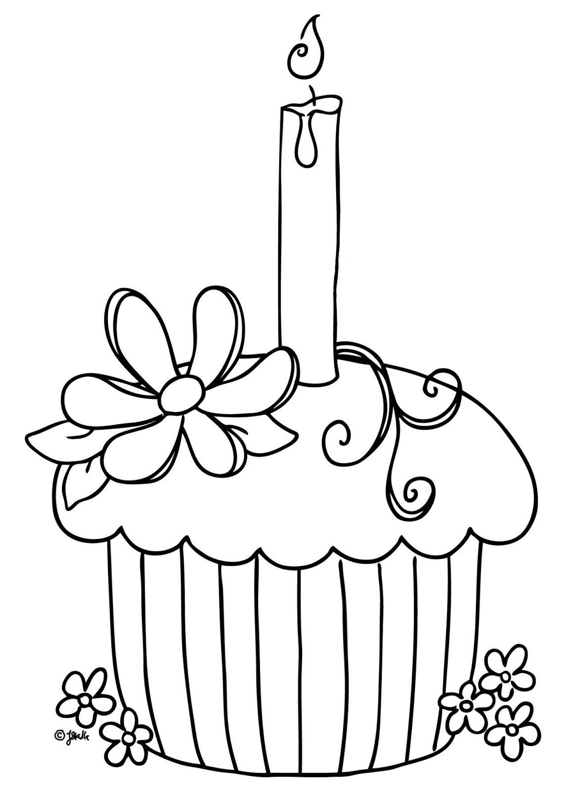 Cupcake раскраски цифровые штампы раскраски и рисунок